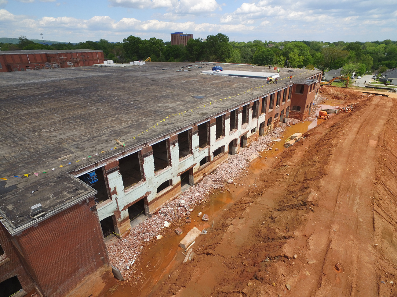 Construction Remains Steady at Historic Judson Mill